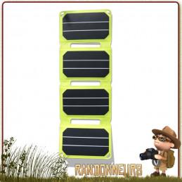 Chargeur Pocket Power 6W SunPower Powertec de randonnée légère haut rendement cellule cristalline pliable