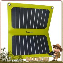 Panneau Solaire PTFLAP 11W SunPower Powertec sortie USB 5V 2000 mAh haut rendement ultra léger