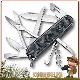 Couteau Victorinox HUNTSMAN Navy Camo 16 fonctions et 11 pièces