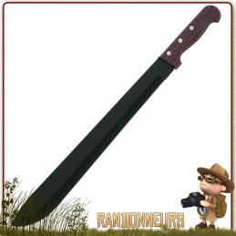 Machette Bushcraft Acier 45 cm Herbertz lame acier full tang 45 cm manche bois pacca