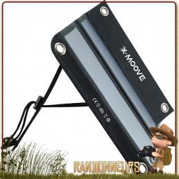 Panneau solaire X-Moove Solargo Trek, pour la randonnée. Ultra compact et léger mais puissant 12w 10000 mAh