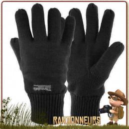 Gants thermiques DRAYTON de Highlander, avec revêtement Thinsulate pour vous assurer de garder les mains au chaud