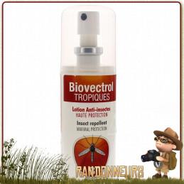 Biovectrol Tropique Pocket en spray de 30ml idéal pour les voyages et la randonnée icaridine non toxique anti moustique