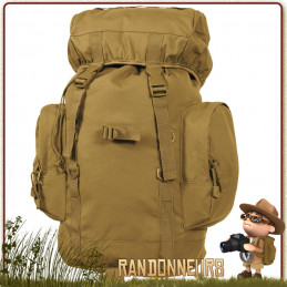 Sac à Dos militaire BackPack Tactical 25L Coyote Rothco de randonnée bushcraft