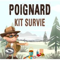 meilleur poignard kit de survie complet intégré achat poignard jungle survivaliste avec matériel de survie intégré dans le manche pas cher