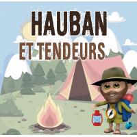 haubanage de tente randonnée corde nylon hauban tarp bushcraft crochet tendeur arrimage toile tente tarp survie